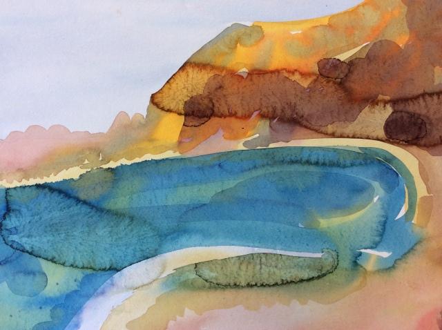06 - Kate Dean - Hope Cove, 52x42cm, ink on paper, 2018.JPG